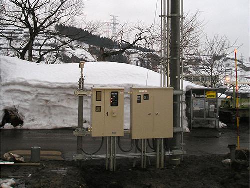 消雪ポンプ電源設備工事